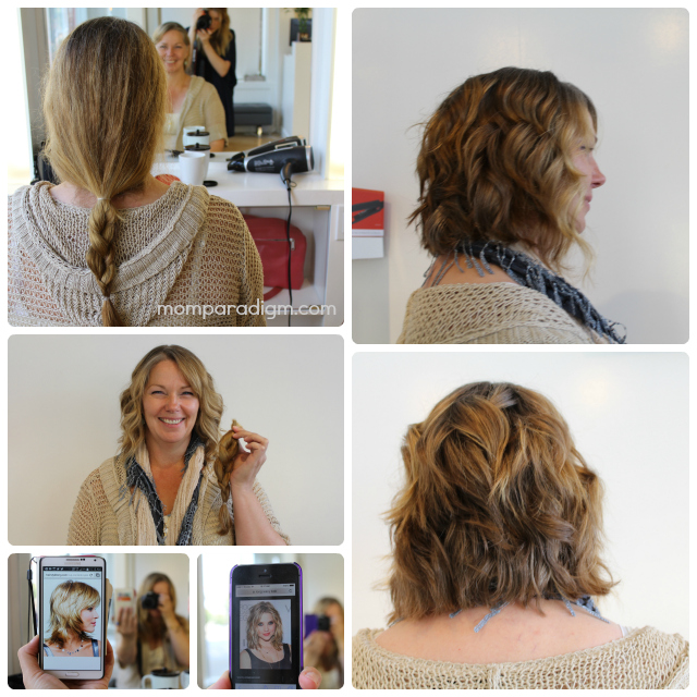 Hair donation collage