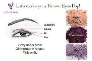 Brown eyes pop