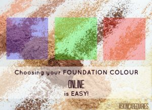 Choosing foundation colour online