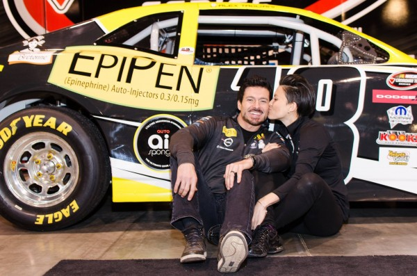 Alex Tagliani and friend