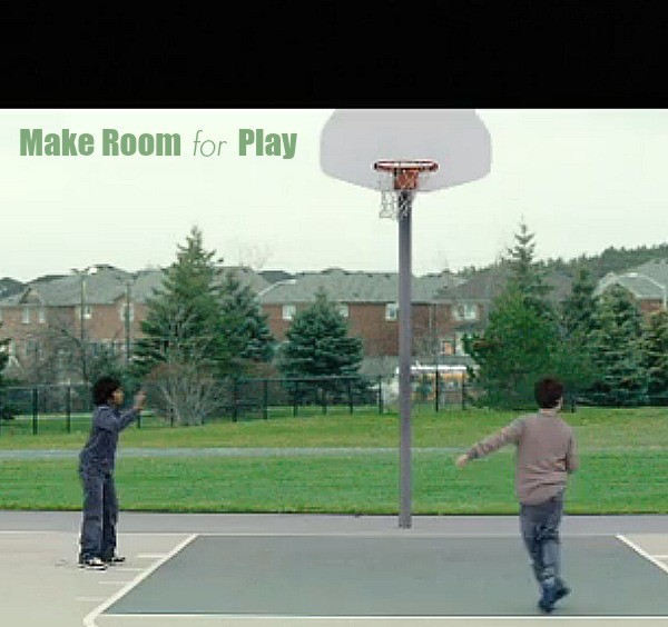 make room for play