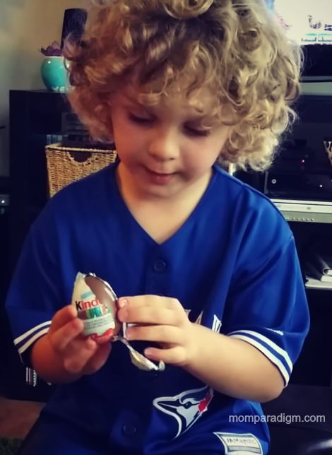 Kinder Surprise and baseball