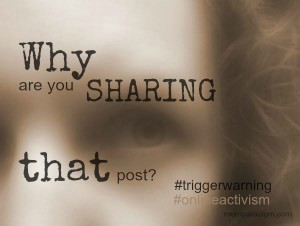 Online Activism: Why are you sharing that post?