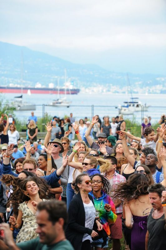 Dancing at the Vancouver Folk Music Festival