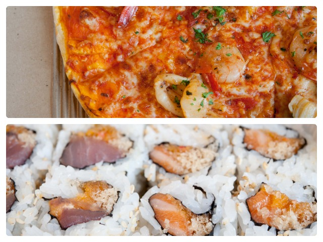 pizza and sushi Just-Eat.ca